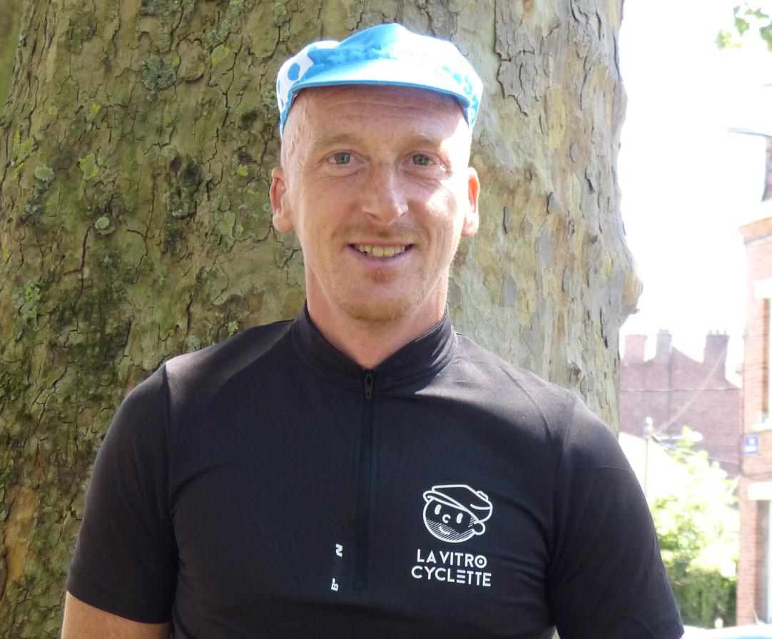 David, laveurs de vitres à vélo sur Lille